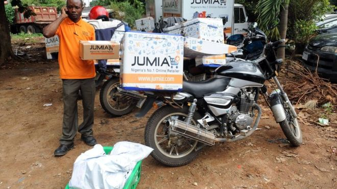 Jumia delivers goods via scooter and offers a variety of payment options (Getty Images)